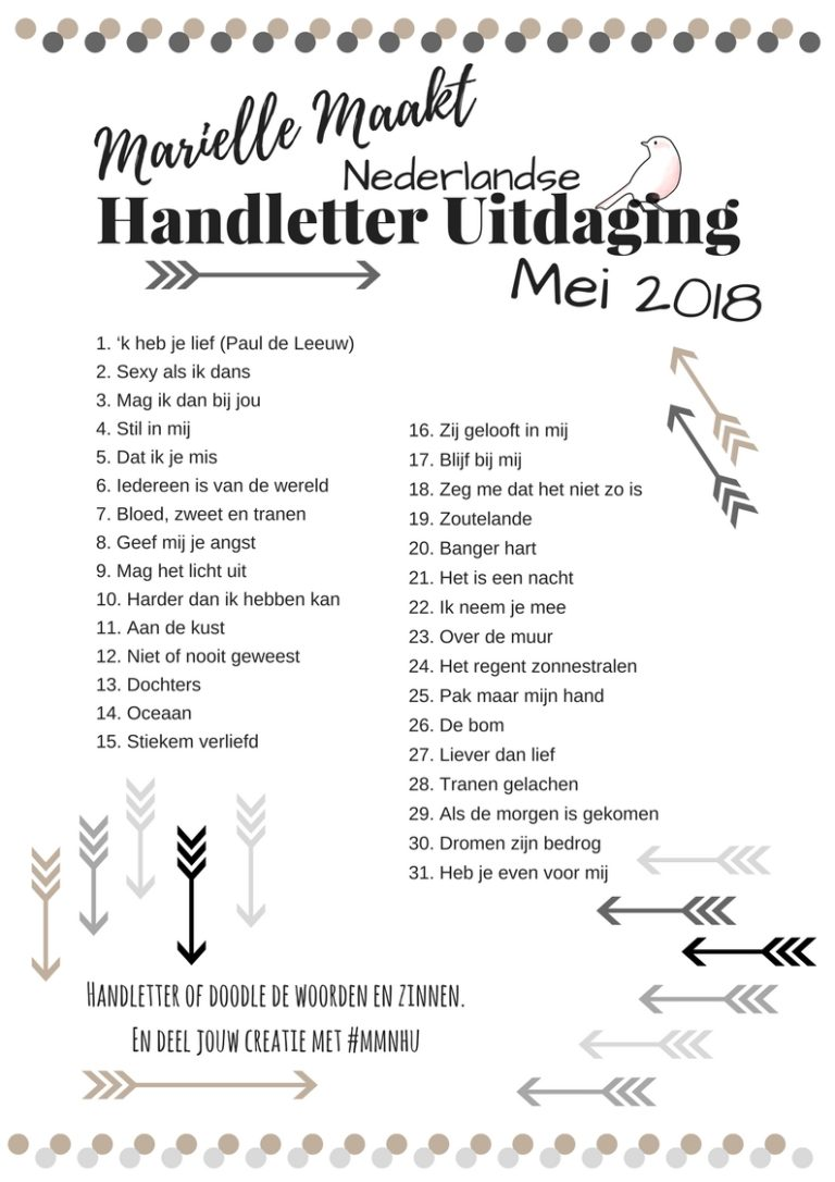 Nederlandse Handletter Uitdfaging