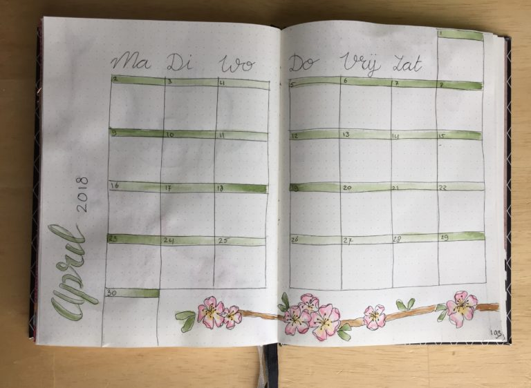 bujo monthly april 2018